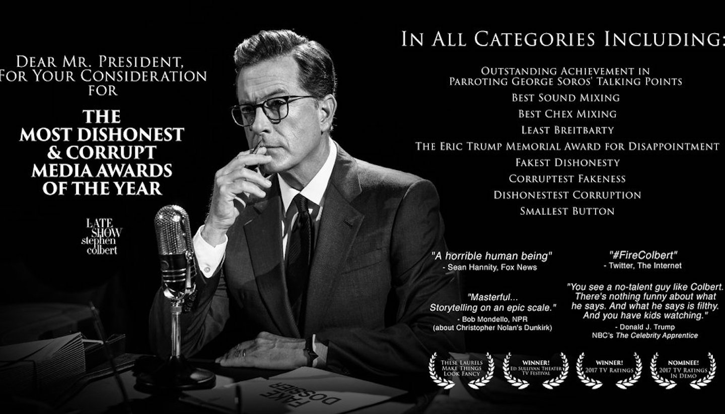 Best Of Luck To The Exceptionally Dishonest & Corrupt Stephen Colbert