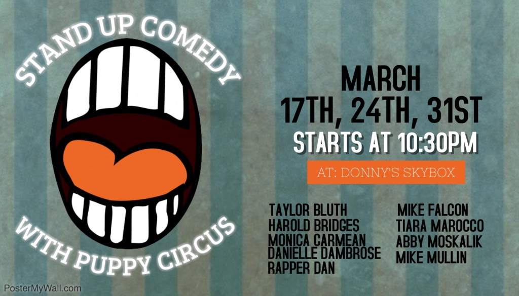 Stand Up Comedy with Puppy Circus