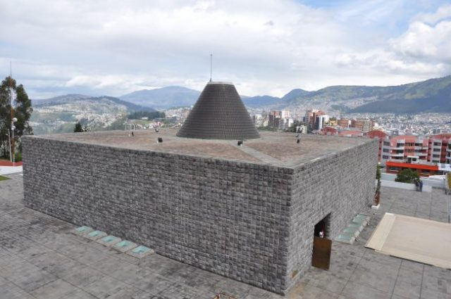 Capilla del Hombre, tribute museum to the most important Ecuadorian visual artist of all time, Oswaldo Guayasamín. The Capilla del Hombre houses an eternal flame advocating for peace and human rights, and the Tree of Life, where the remains of the artist are buried.