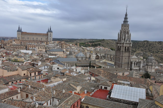 View over Toledo. Beautiful even in the rain.