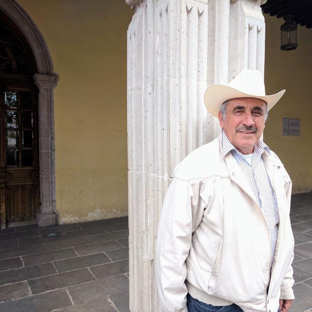 Caretaker who was kind enough to give me a tour, Teatro Hinojosa