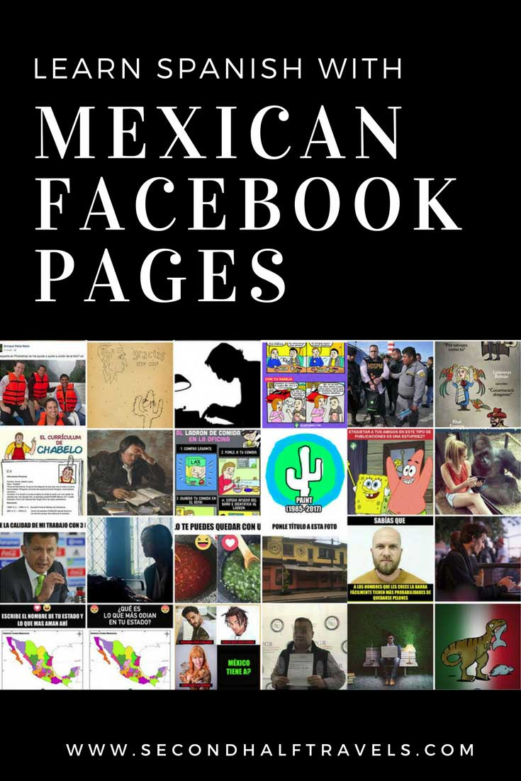 Facebook Pages to Learn Mexican Spanish