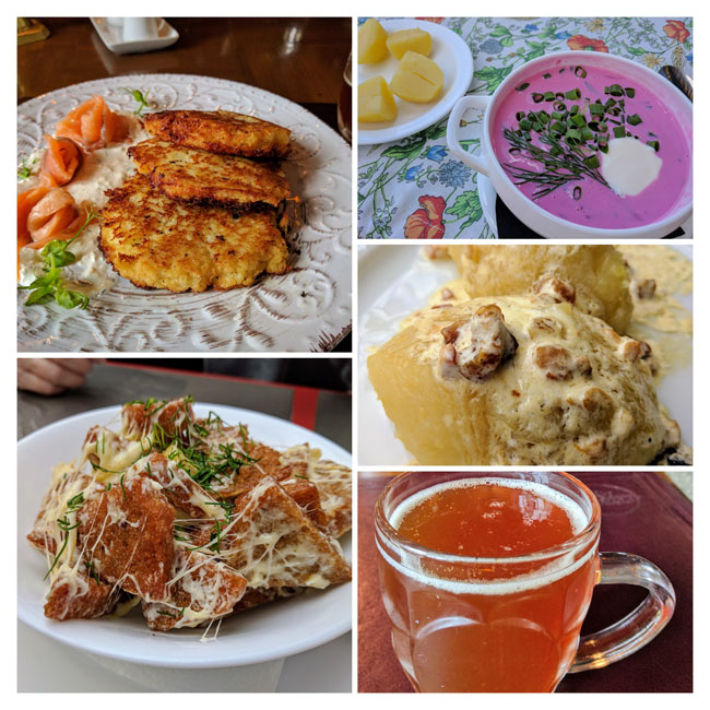 Delicious Lithuanian food - the Baltics travel