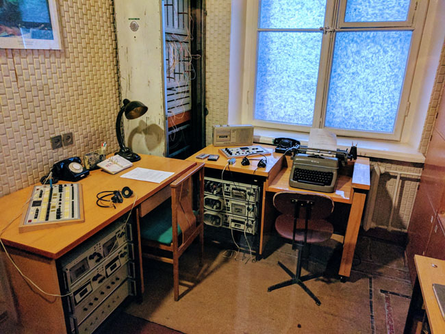 Eavesdropping room, KGB Museum (Museum of Genocide Victims), Vilnius