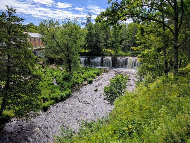 Keila-Joa manor complex and waterfall, Estonia