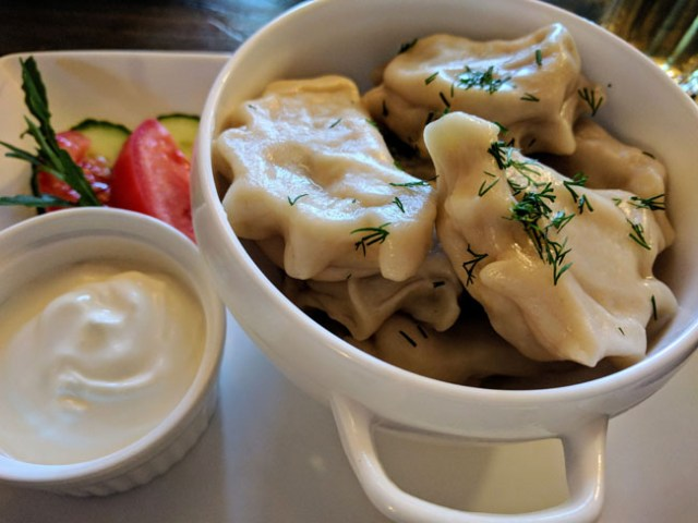 Pelmeni, traditional Russian dumplings