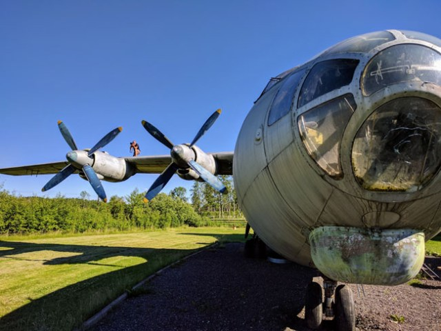 Exploring an old Soviet military airplane
