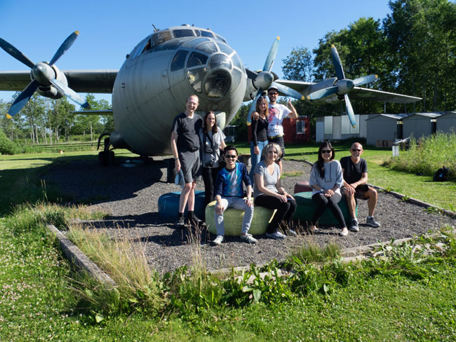 A fun, international group on the Coastal Cliffs & Soviet Paldiski tour with Tallinn Traveller Tours