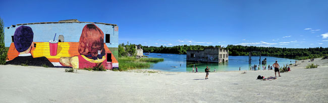 Rummu underwater prison, Estonia