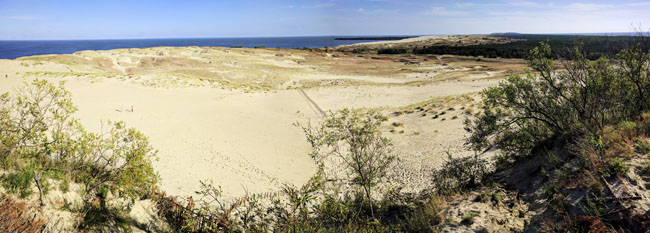 Parnidis Dune in Nida. Russia is the dark spit off to the right.
