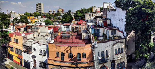 View from my Airbnb in La Condesa, Mexico City