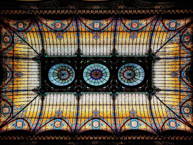 Tiffany stained-glass ceiling, lobby, Gran Hotel Ciudad de México