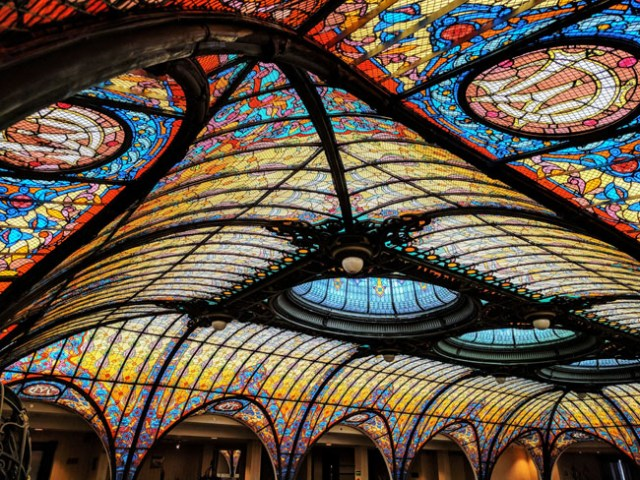 Tiffany stained-glass ceiling, Gran Hotel Ciudad de México
