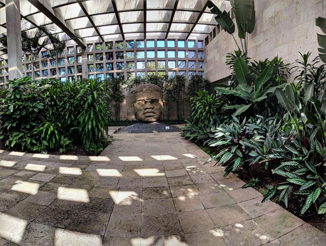 Olmec head, Anthropology Museum, Xalapa, Veracruz, Mexico