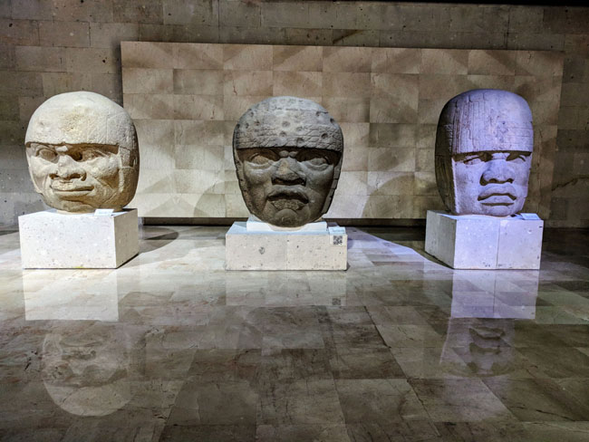 Olmec heads, Anthropology Museum, Xalapa, Veracruz, Mexico