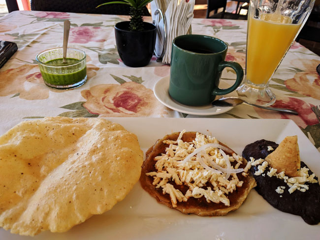 Typical breakfast, Tlacotalpan
