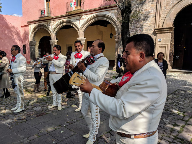 Mariachi wedding at the cathedral, Tlaxcala City