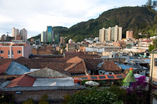 View over Bogotá from my Airbnb in La Candelaria - three weeks in Colombia