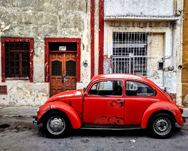 Vocho (VW bug), Mérida - things to see in Yucatan