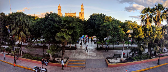 Merida's main plaza