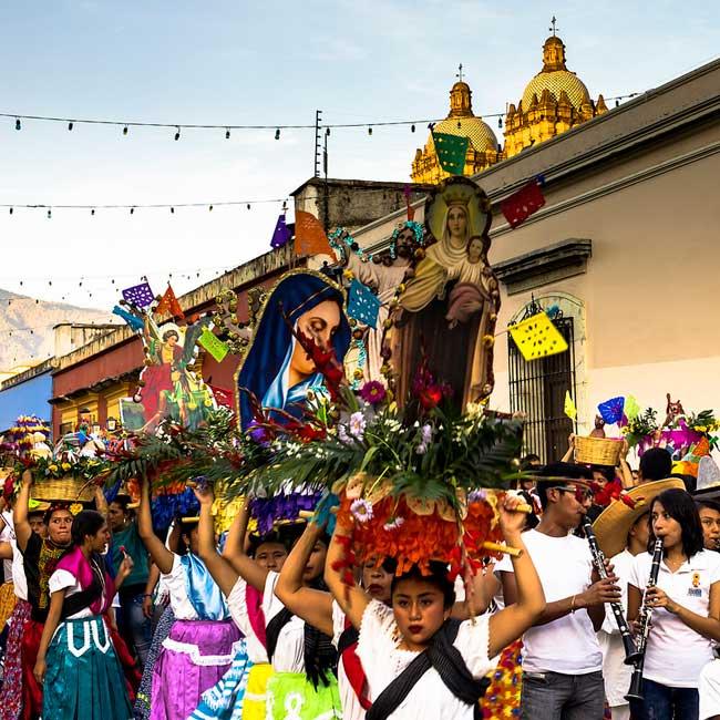Oaxaca Mexico procession