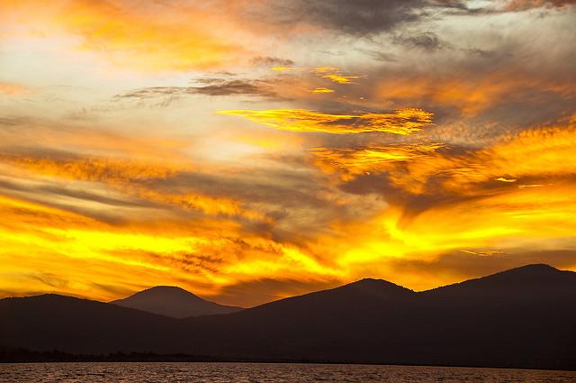 Sunset over Lake Pátzcuaro