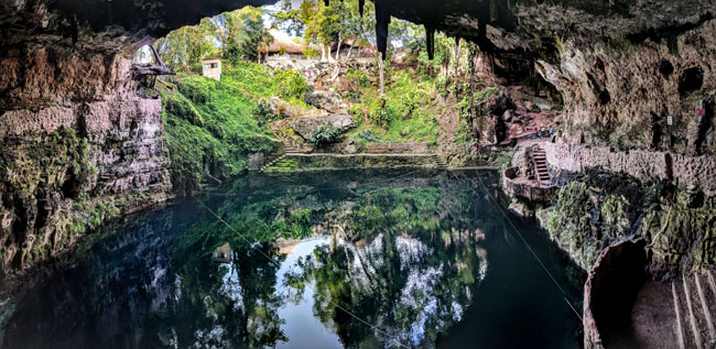 Cenote Zací in the center of Valladolid - things to do in Yucatan