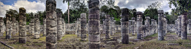 The Plaza of a Thousand Columns, Chichén Itzá - best Yucatan excursions