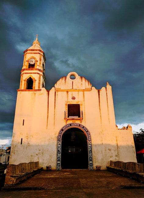 San Román Church, Campeche - what to do in Yucatan peninsula