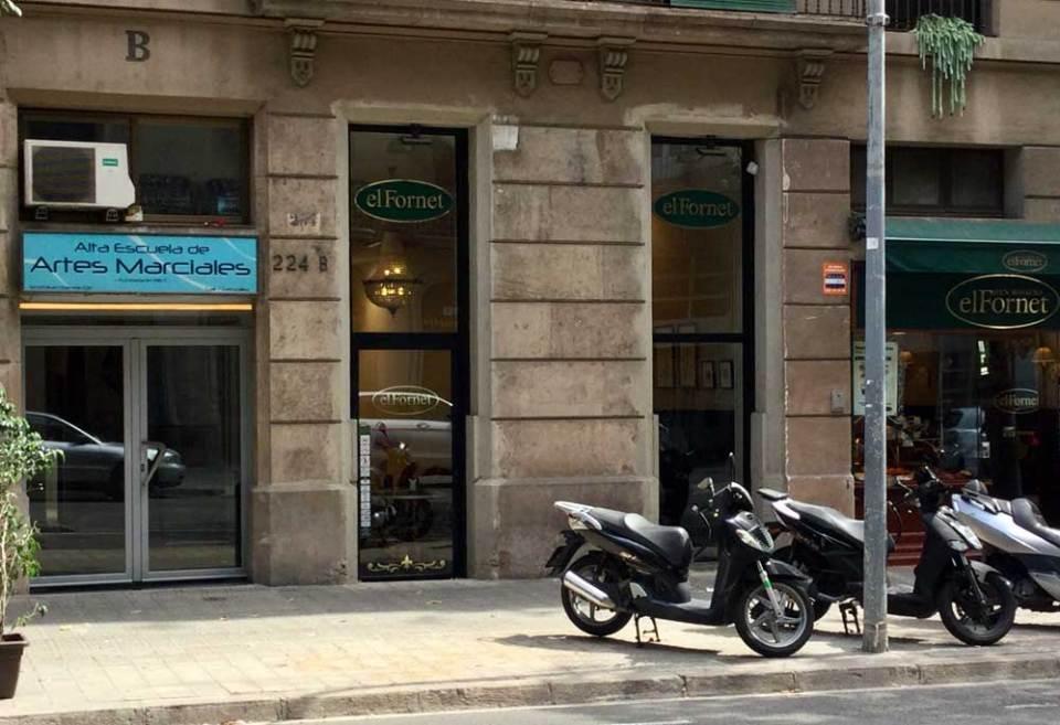 A café beside a karate dojo: the perfect eavesdropping location?