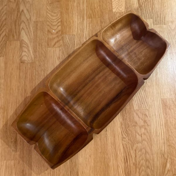 Top view of Monkey-Pod Wood Tray