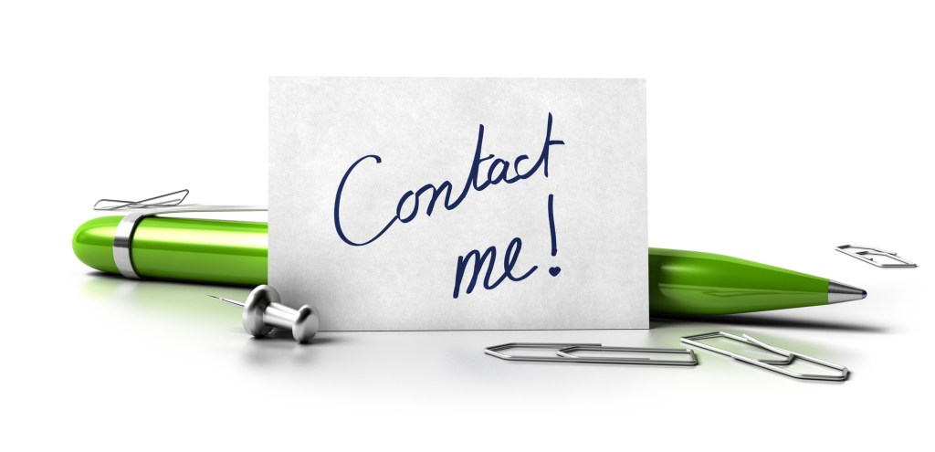 Contact me business card contact form