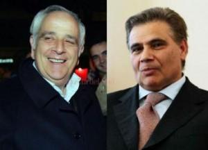 d sinistra l'ex sindaco di Rende Umberto Bernaudo e l'ex assessore dello stesso comune Pietro Paolo Ruffolo