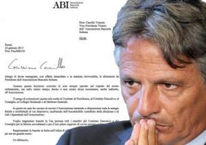 Giuseppe Mussari e la sua lettera di dimissioni dall'ABI