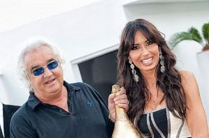 Flavio Briatore (66 anni) con Elisabetta Gregoraci (34)