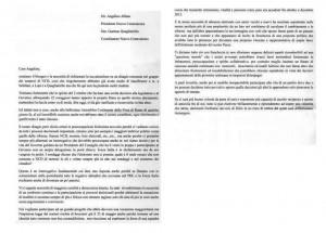 La lettera riservata di 15 senatori ad Alfano scritta ad aprile 2014