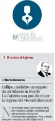 Il corsivo apparso sul Corriere della Sera