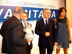 Gaetano Quagliariello con Stefano Caldoro e Nunzia De Girolamo