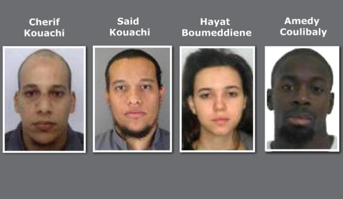 Terrore islamico a Parigi Da sinistra i fratelli Cherif Kouachi e Said Kouachi - Hayat Boumeddiene e Amedy Coulibaly