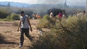 Il luogo della disatro in Argentina (Afp/Getty) - scontro fra elicotteri in Argentina