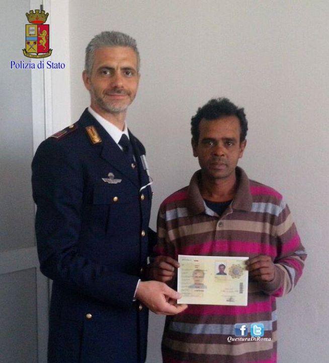 Migrante irregolare salva una donna nel tevere quando il for Polizia di stato torino permesso di soggiorno