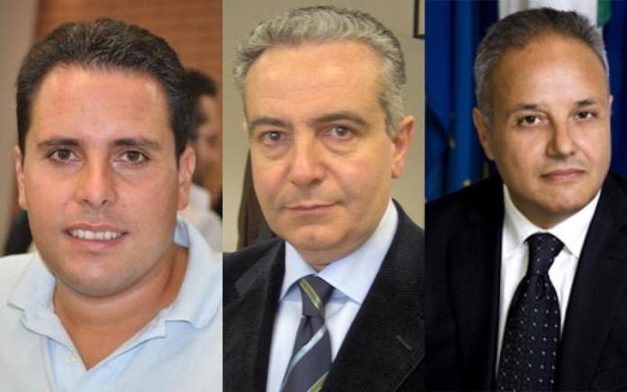 Da sinistra De Gaetano, Fedele e Bilardi