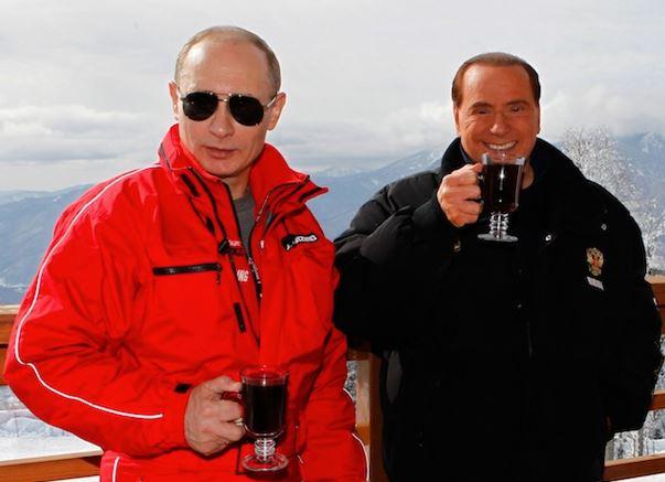 Putin con Berlusconi