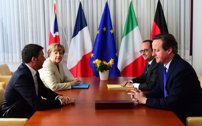 vertice ue migranti renzi cameron merkel hollande getty