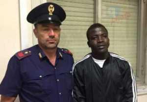 l'ivoriano arrestato Mamadou Kamara