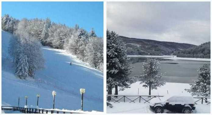 In Sila quasi un metro di neve. Laghi ghiacciati e turisti in arrivo