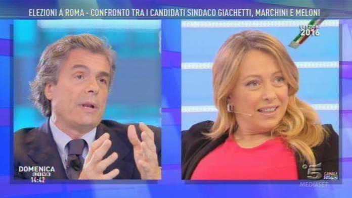 Elezioni Roma, scintille tra Marchini, Meloni e Giachetti