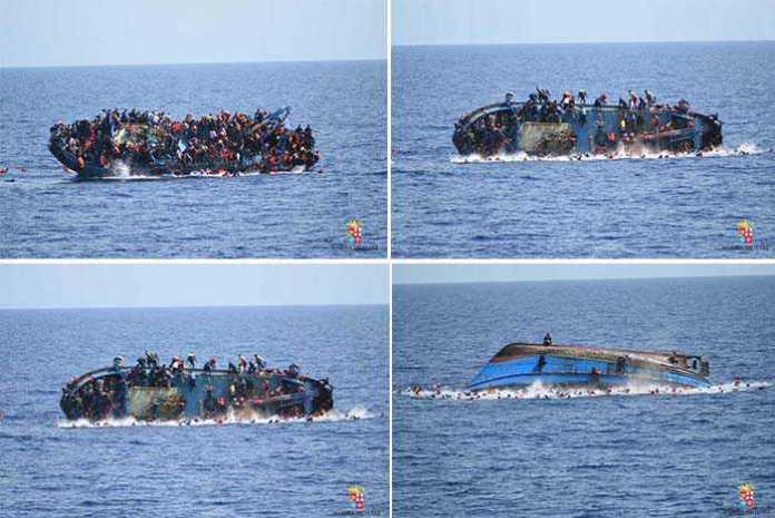 Barcone si capovolge in mare Libia
