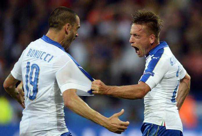 Bonucci e Giaccherini Italia Belgio