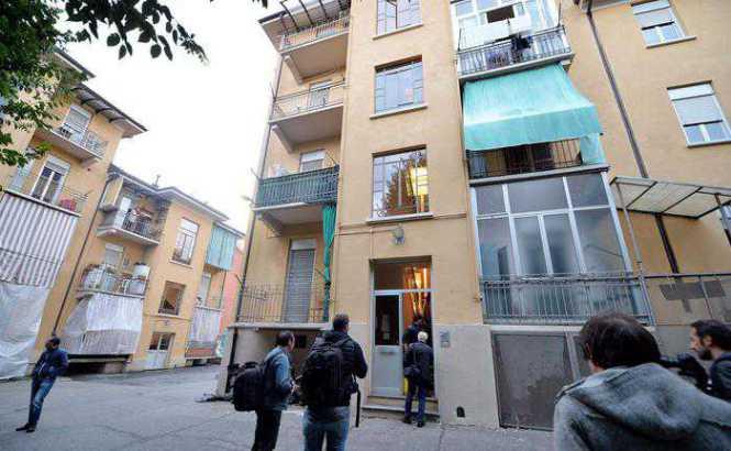 Lo stabile di Via Forlì dove è stato ucciso Giovanni Battista Boggio